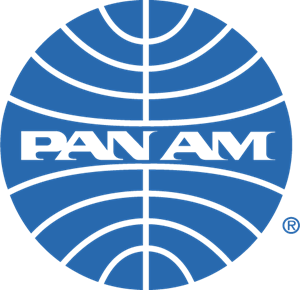 Luggage vector vintage airline. Pan am logo airlines