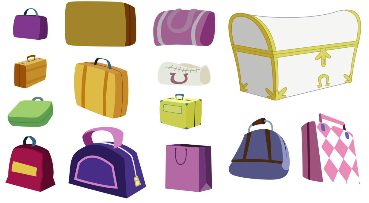 Luggage vector. Ponyville by techrainbow on
