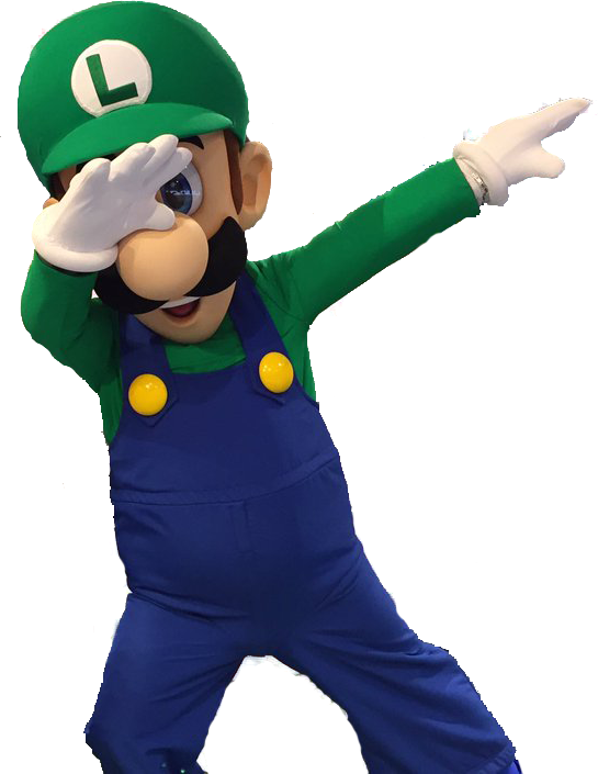 Luigi dab png. Transparent template know your