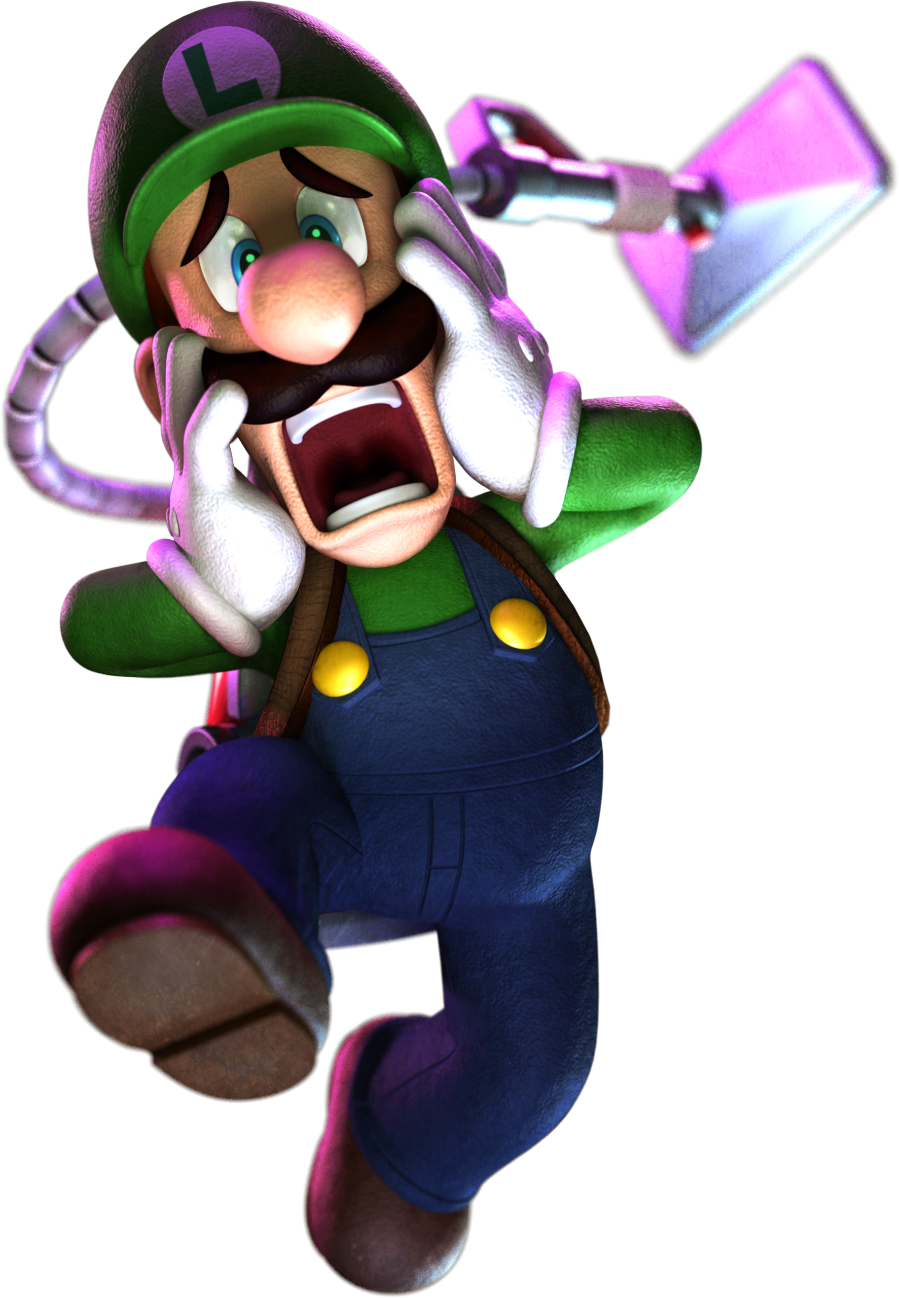 Luigis mansion png. Image lmdm luigi scared