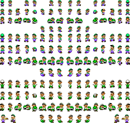 Luigi sprite png. Super mario world sheets