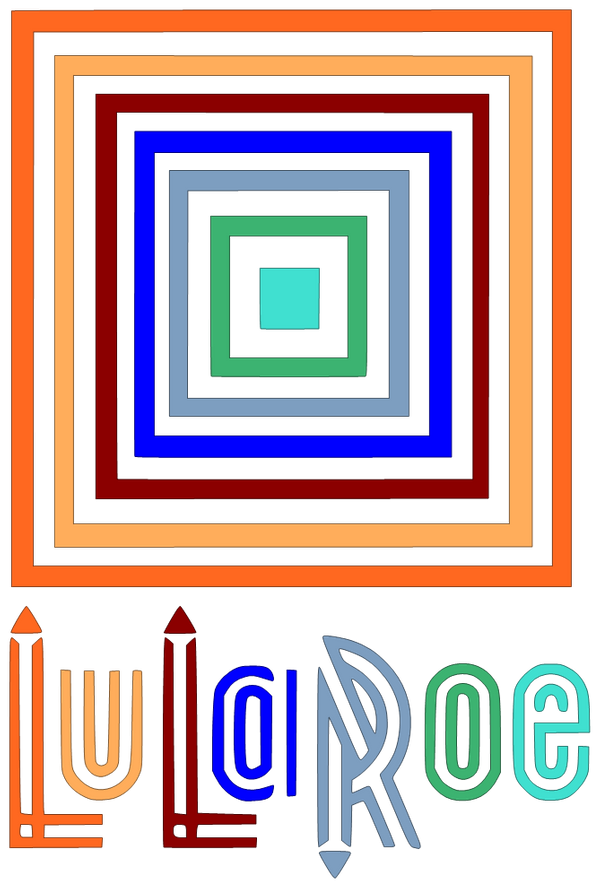 Lularoe vector square. Image of logo dogs