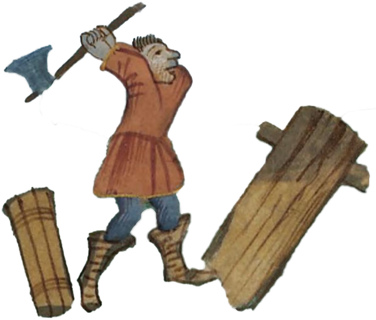 Lumberjack clipart chop wood. Torri pren cutting medium