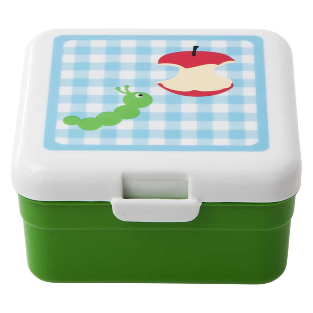 Lunch box png. Kids small blue check