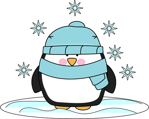 Snow clipart. Penguin in the clip