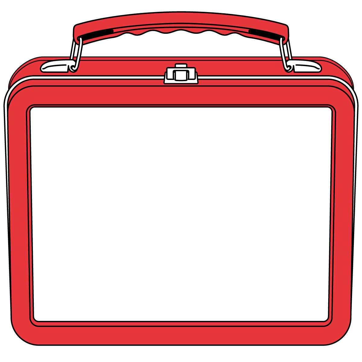 Lunchbox clipart outline. Printable lunch box
