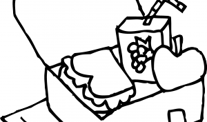 Lunchbox clipart outline. Lunch box black and