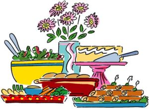 Buffet st paul s. Luncheon clipart graphic transparent library