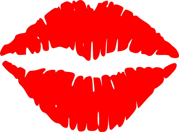 Lustful lips clip art. Lip clipart image black and white library