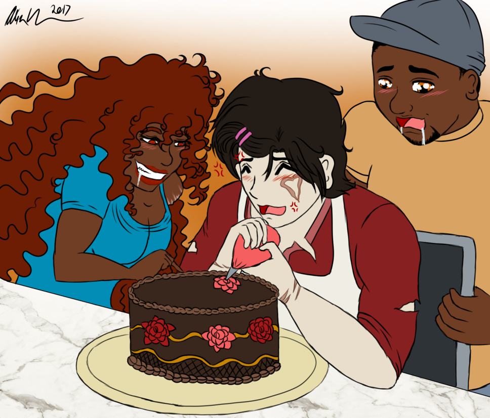 Lust drawing wrath. Otp day baking by
