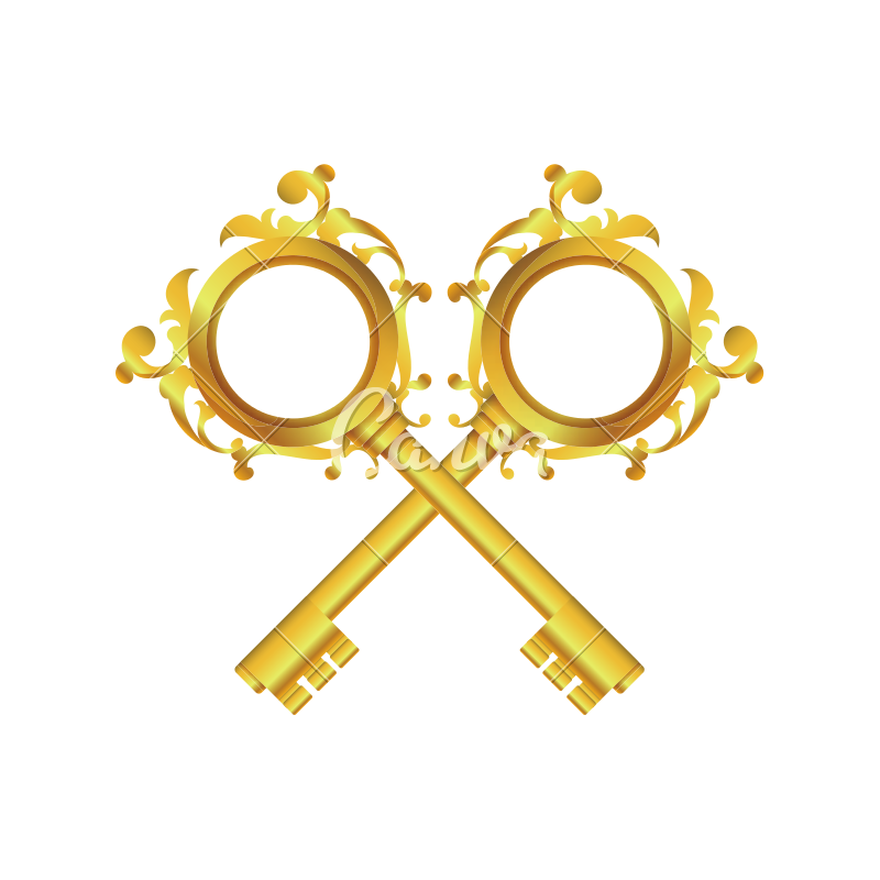 Luxury keys png. Vintage icon icons by