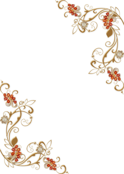 Luxury vector golden floral. Border png photo peoplepng