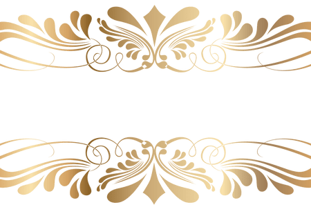 Luxury vector golden floral. Pattern png path decorations