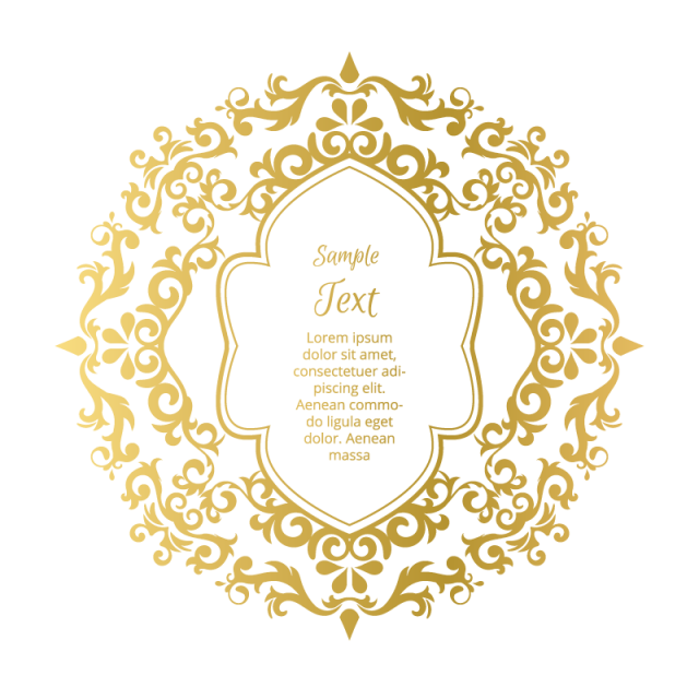 Luxury vector ornament. Design element frame vintage