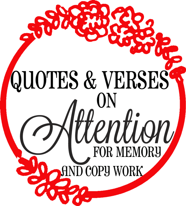 Lyric drawing memory. Quotes verses on attention