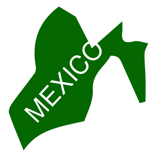 México png green. Mexico state map transparent
