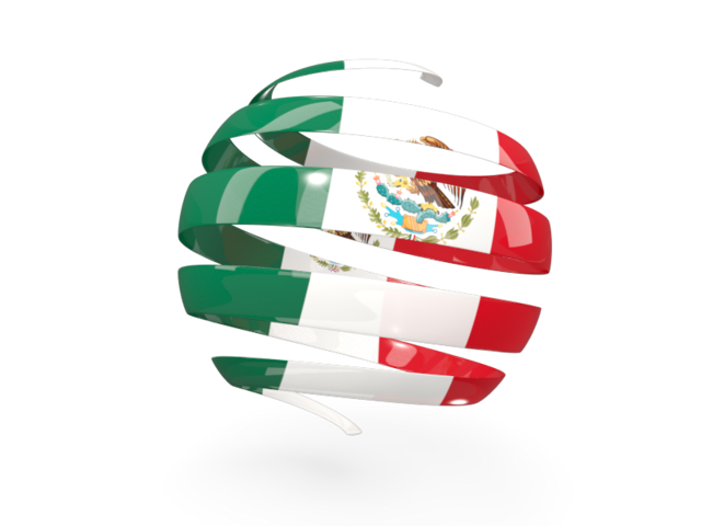 México png illustration. Round d icon of