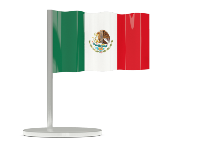 México png pin. Flag illustration of mexico