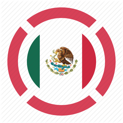 México png pin. Country flag location mexico