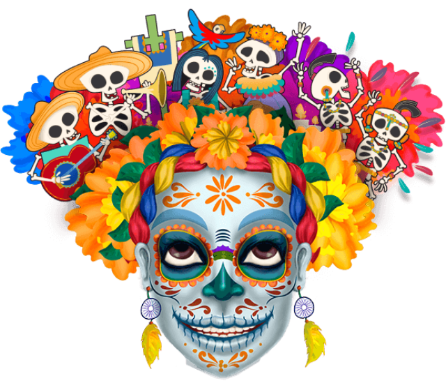 México png tradition. Day of the dead