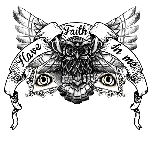 M drawing tattoo. Have faith in me