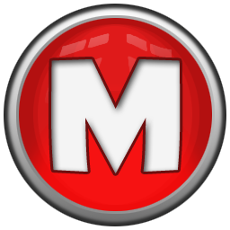 Red m png. Letter icon orb alphabet
