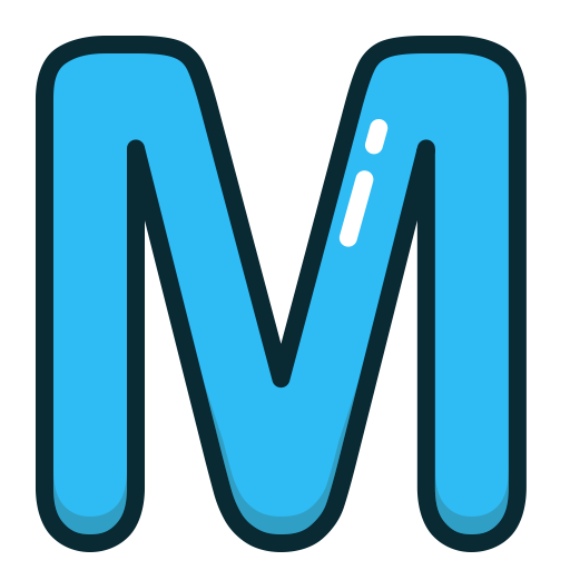 The letter m png. Icon ico