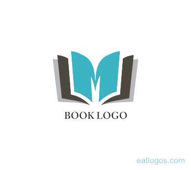 M logo design png. Letter with book download