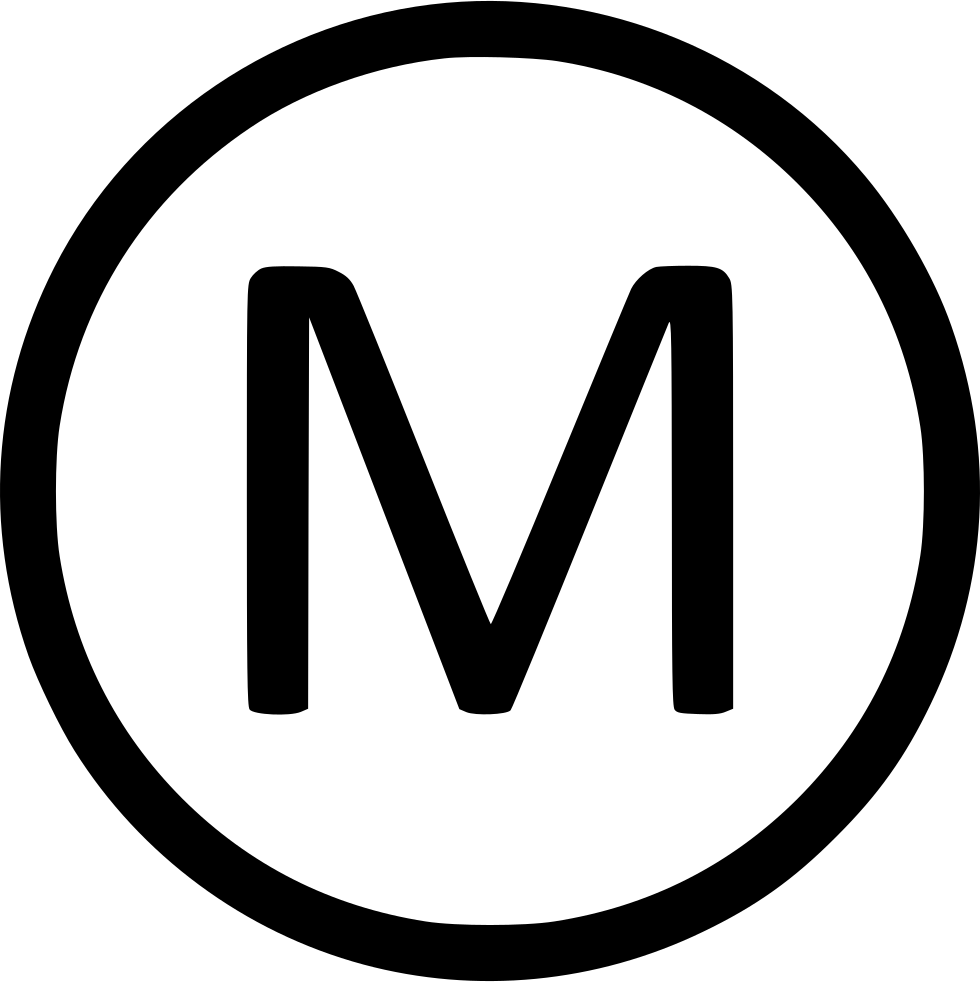 M png icon. Letter uppercase virtual svg
