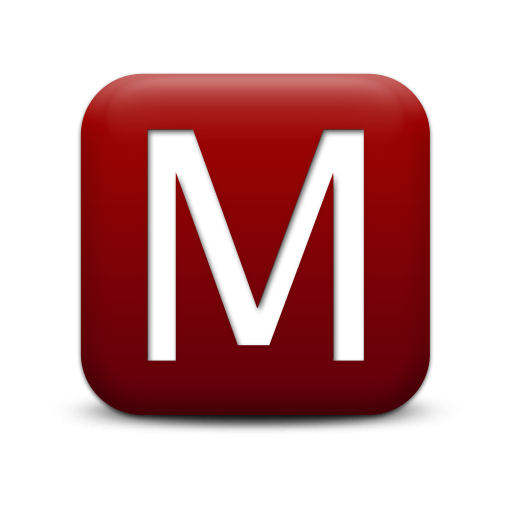 M png icon. Red letter free icons