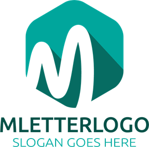 M vector. Letter logo ai free