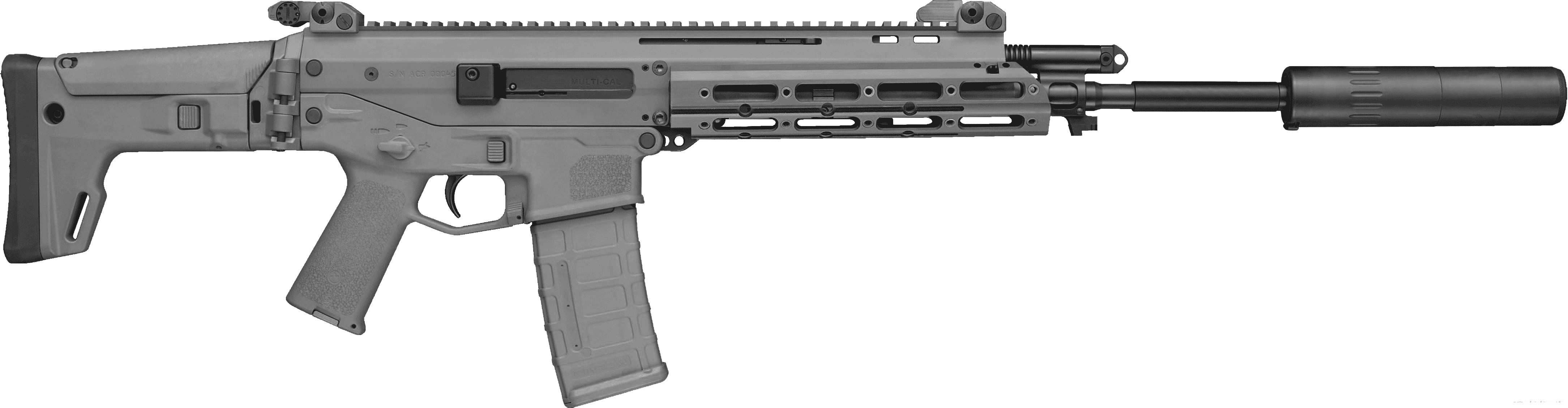 Assault thirty one isolated. Transparent rifle picture black and white