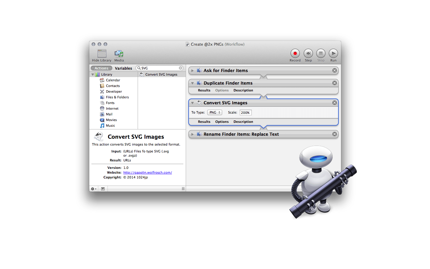 Mac convert svg to png. Gapplin viewer for automator