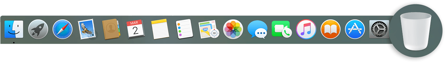 mac dock png