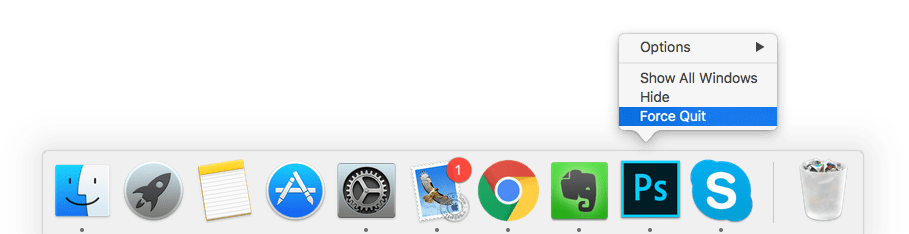 Mac dock png. How to force quit