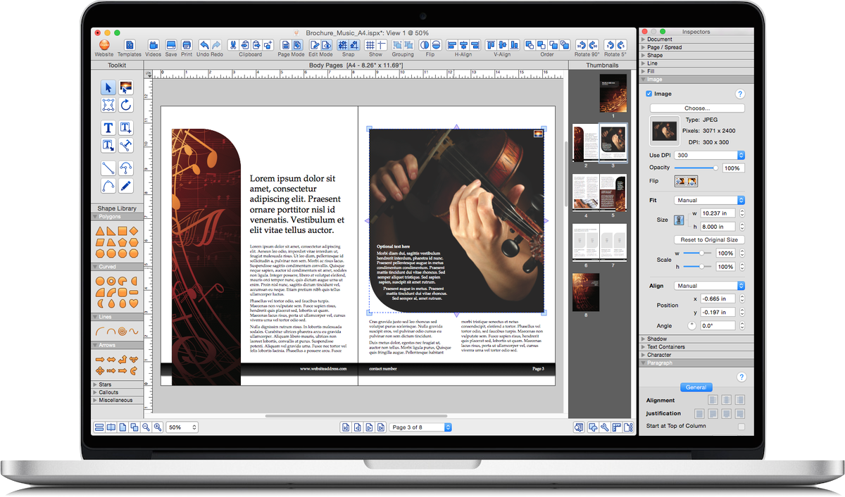 Mac edit png. Istudio publisher page layout
