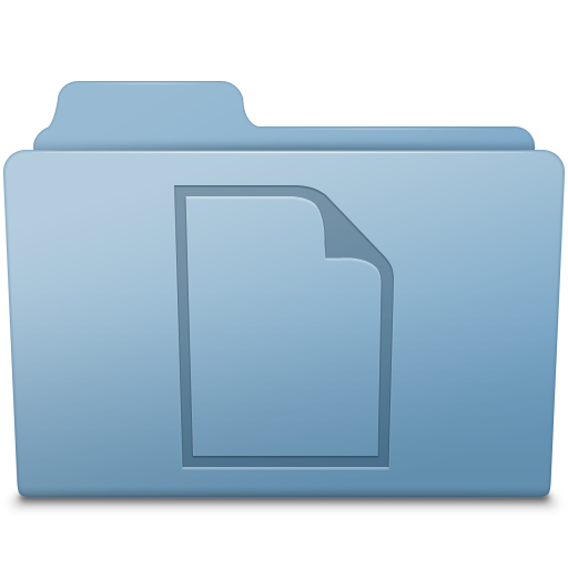 Mac folder png. Documents blue icon smooth