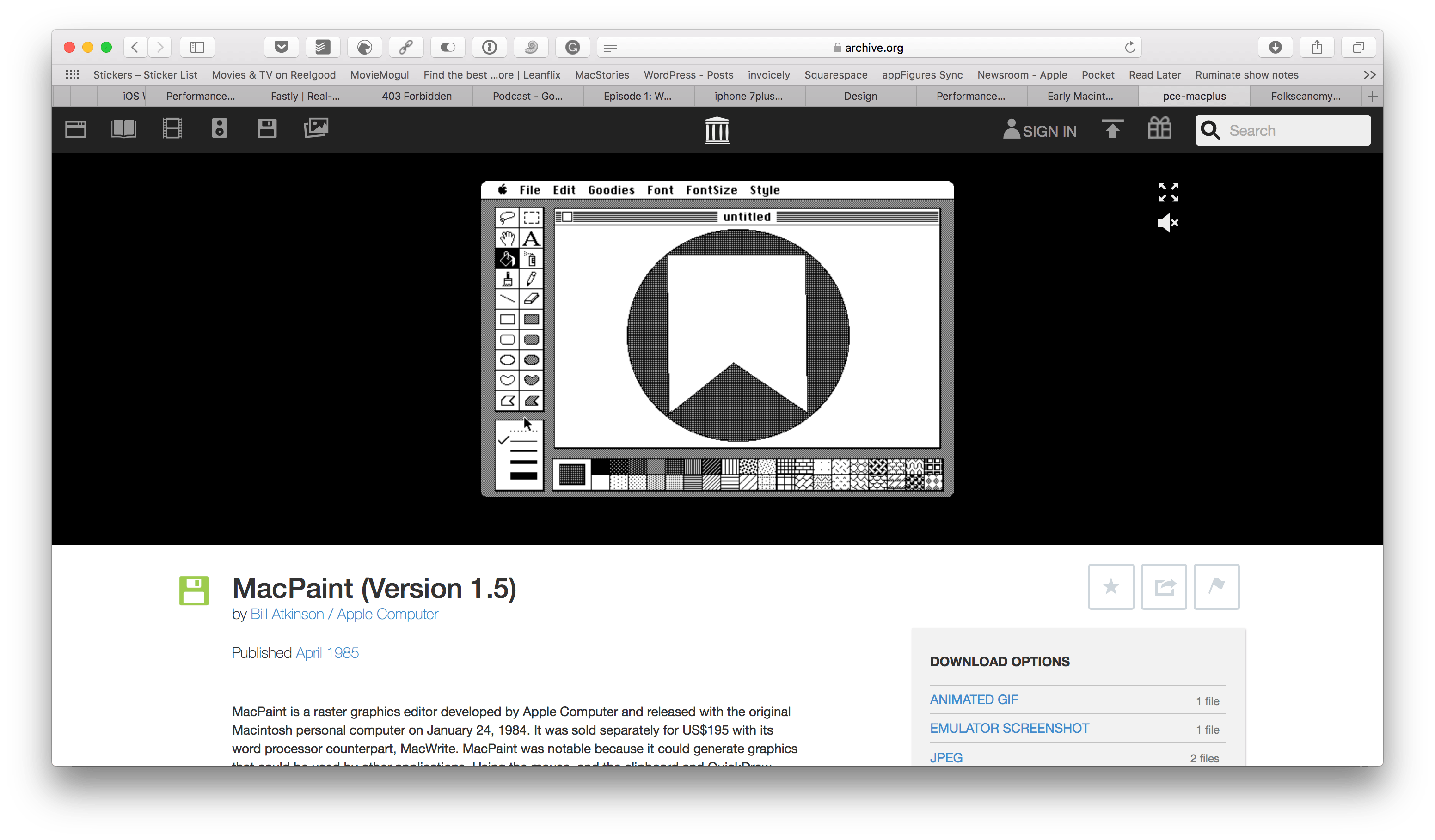 Mac transparent early. Internet archive adds macintosh