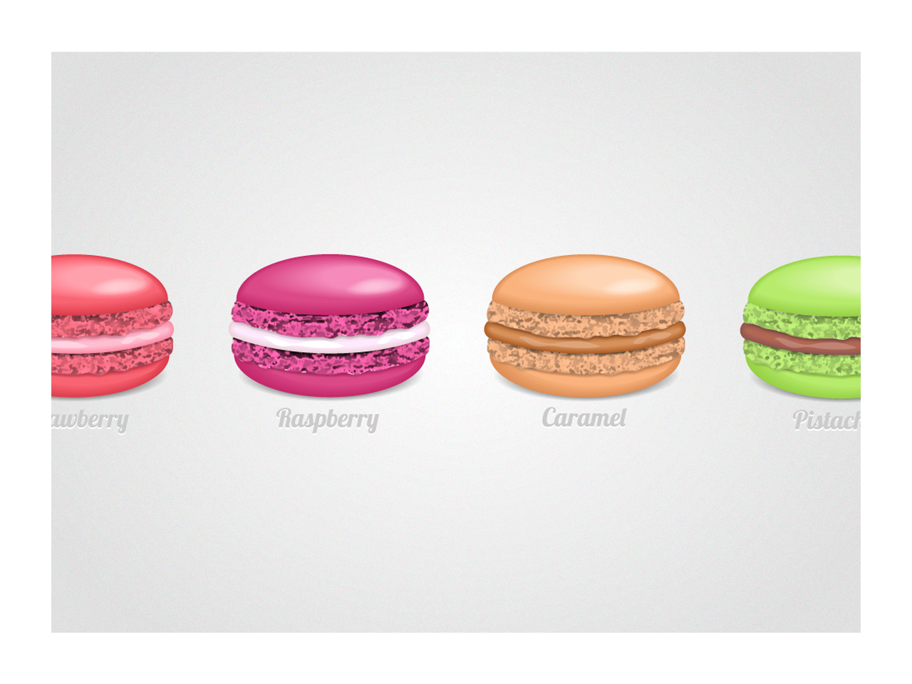 macaroon drawing cookie
