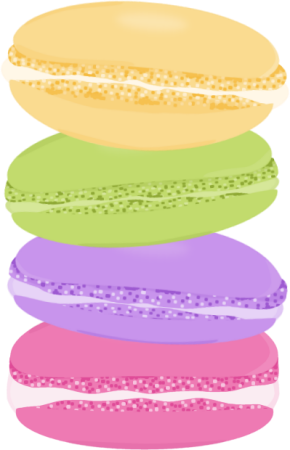 Macaron vector animated. Cookies clipart stack cute