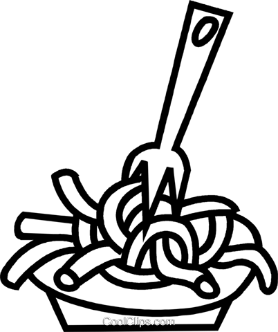Macaroni drawing linguine. Pasta vector library