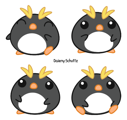 Macaroni drawing penguin. Little by daieny on