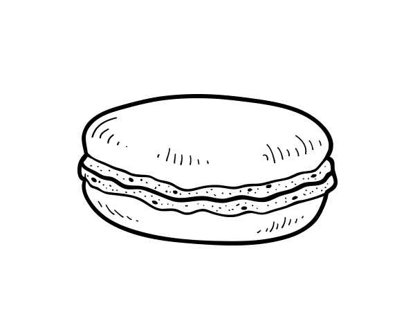 Macaroon drawing coloring page. Macaron coloringcrew com