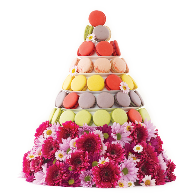 Macaroon drawing macaron tower. Lette macarons gifts parties