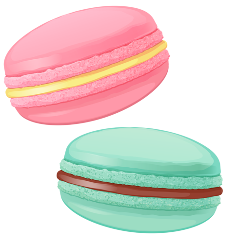 macaroon drawing painting