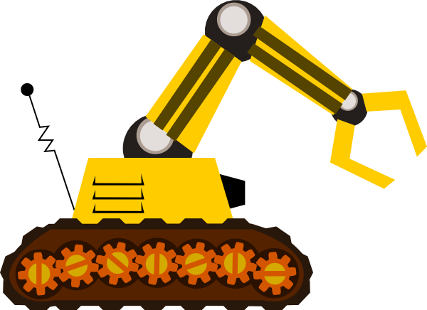 Bulldozer svg cartoon. Machine clip art vector