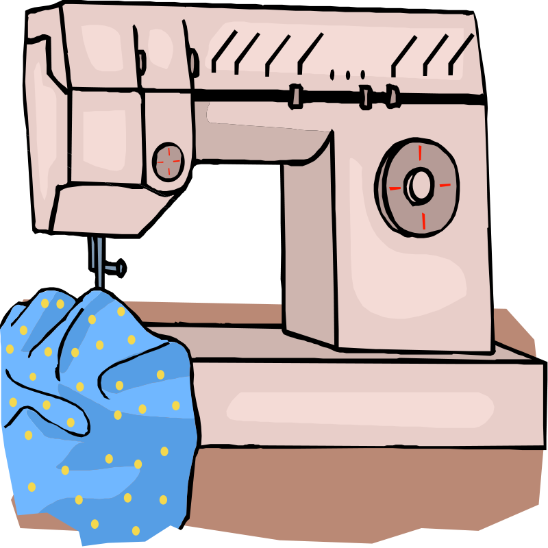Sewing clipart sewing clothes. Free download clip art