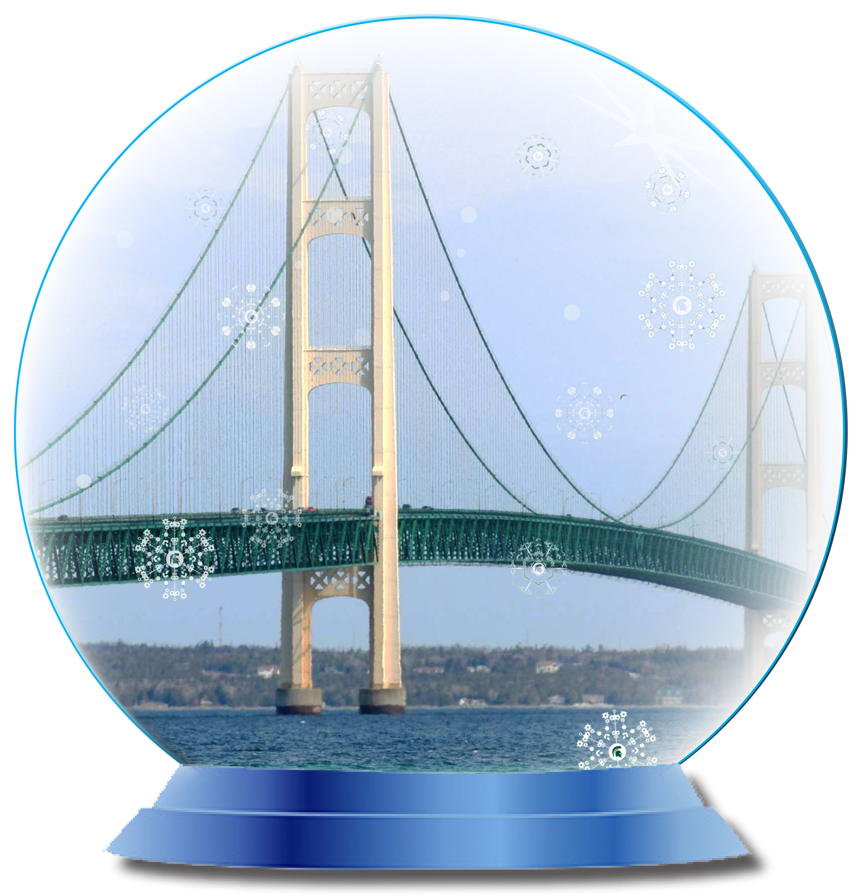 Mackinac bridge png. Happy holidays college of
