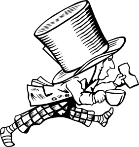 Mad drawing religion. Hatter clip art at