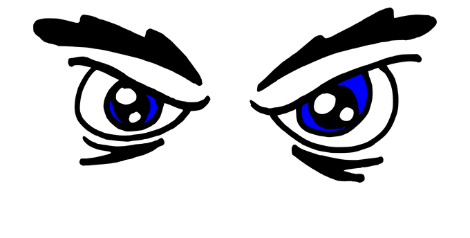 Mad eyebrows png. Angry eyes clipart black